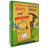 Zo Teken Je Dino's - 12 Sjabloon Kaarten
