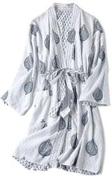 Dames Block Printed Reversible Robe Fort