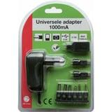 Adapter univ.1000ma 3-12v 6xcon+usb