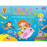 Color & Sticker Fun Vrolijke Zeemeerminnen