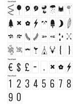 Lightbox Symbol Set - Numbers & Symbols