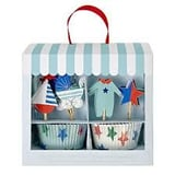Baby Blauw Cupcake Set