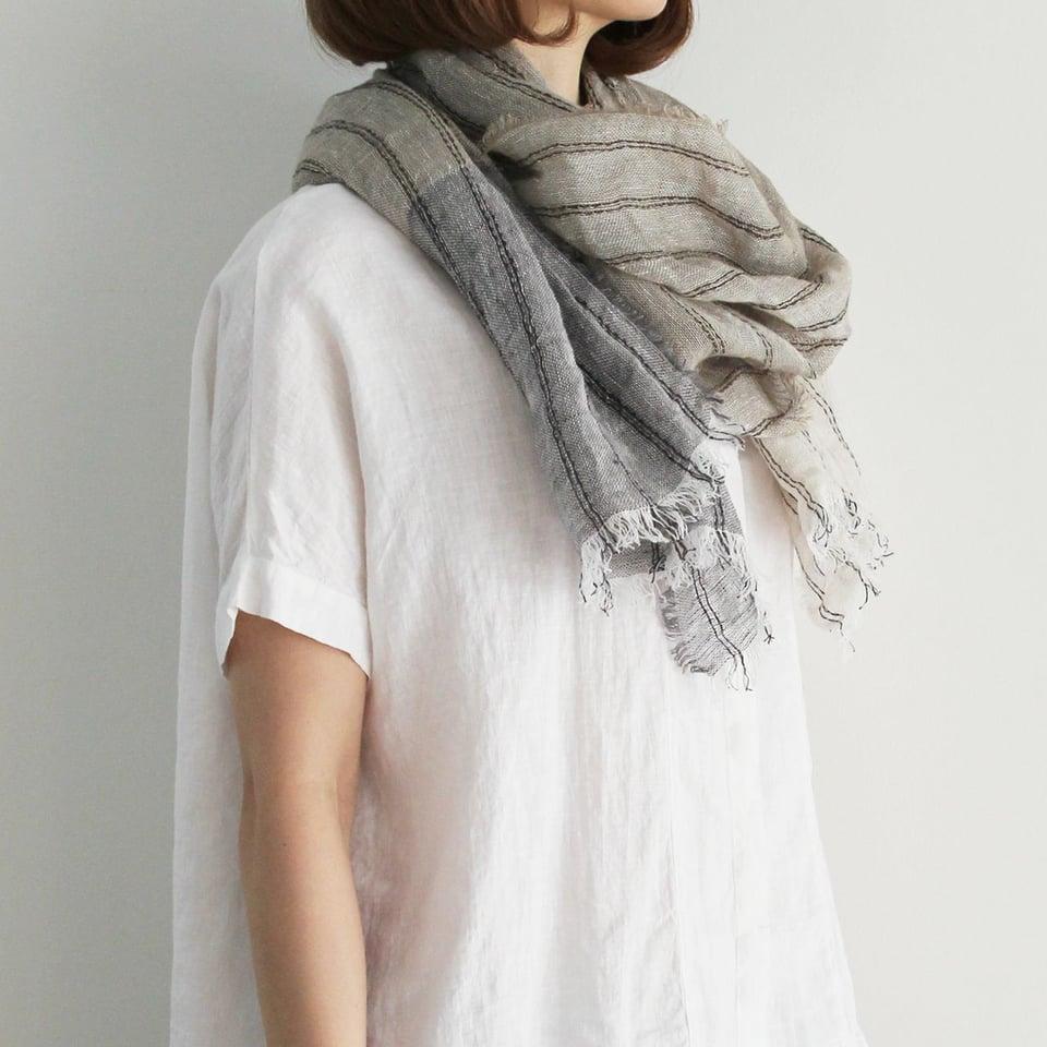 Lino e Lina linnen sjaal, Funambule, naturel