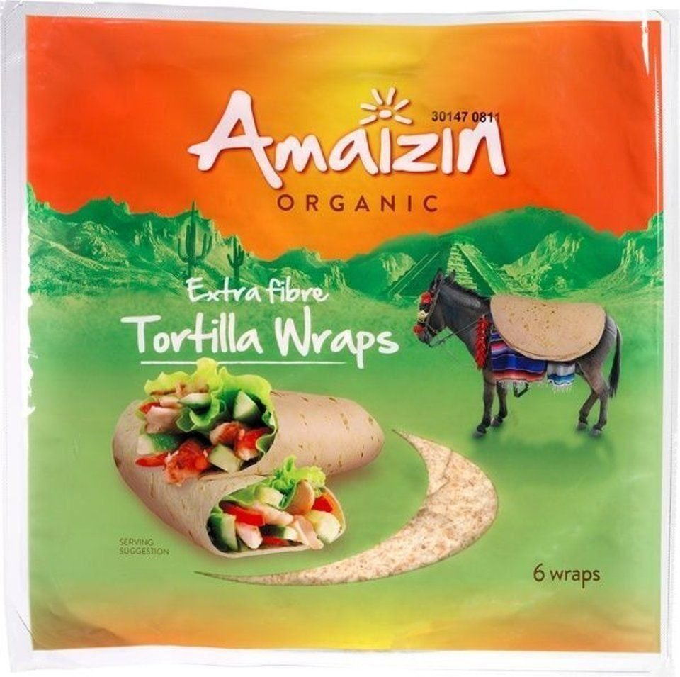 Tortilla wraps extra fibre