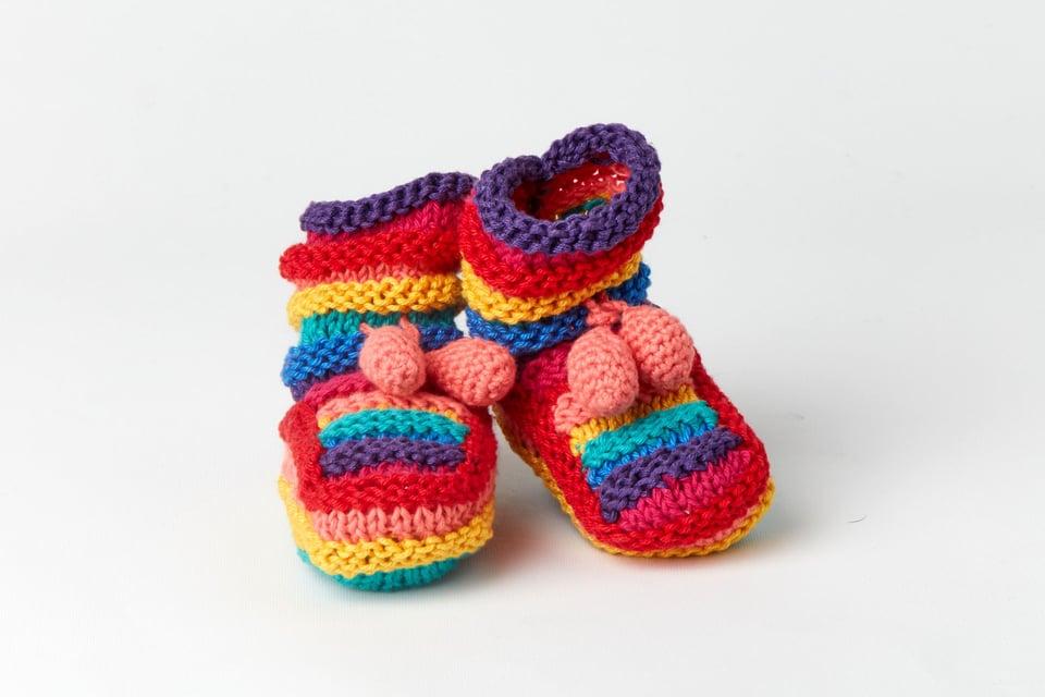 Rainbow Booties