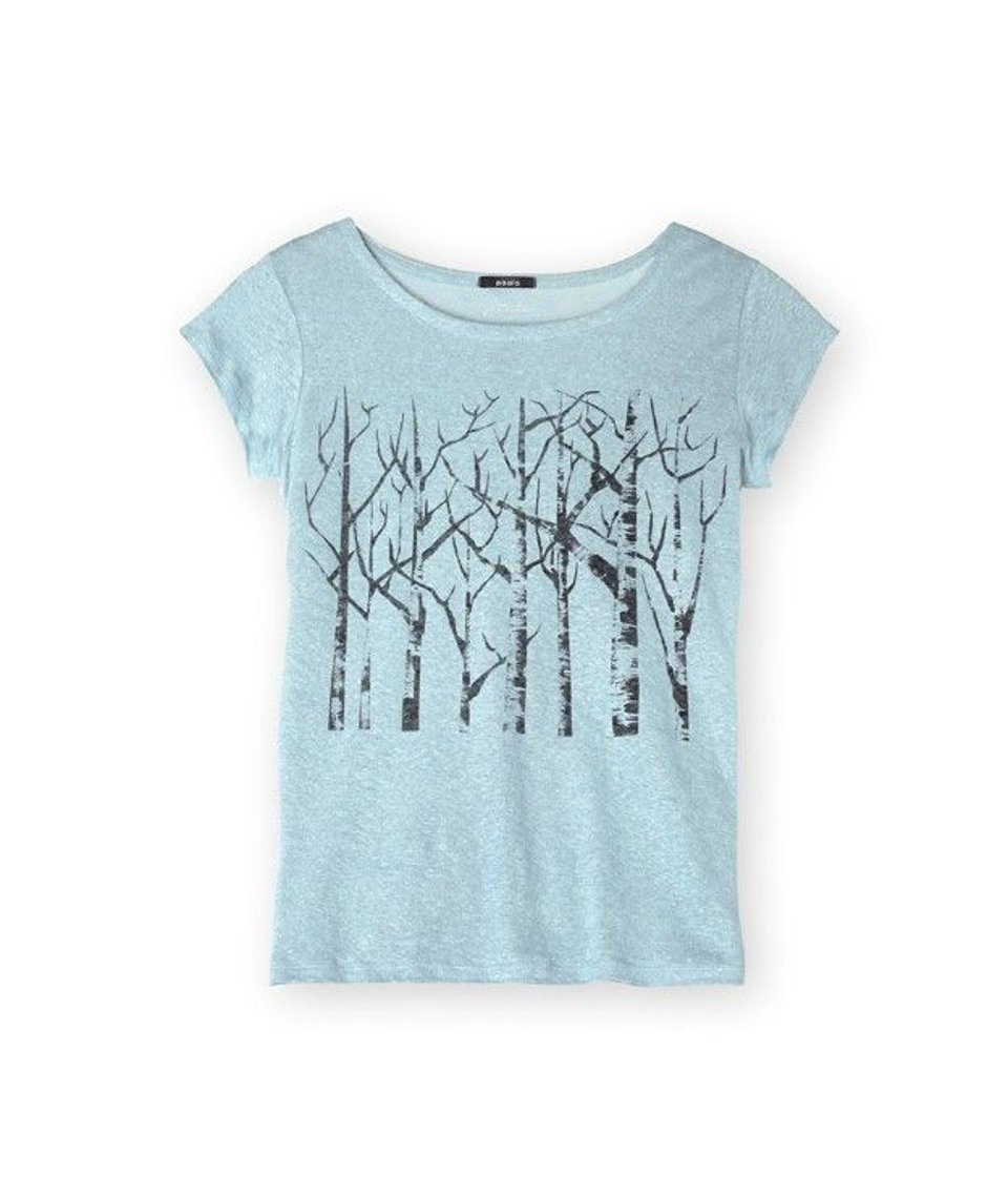 Päälä linnen t-shirt ijsblauw