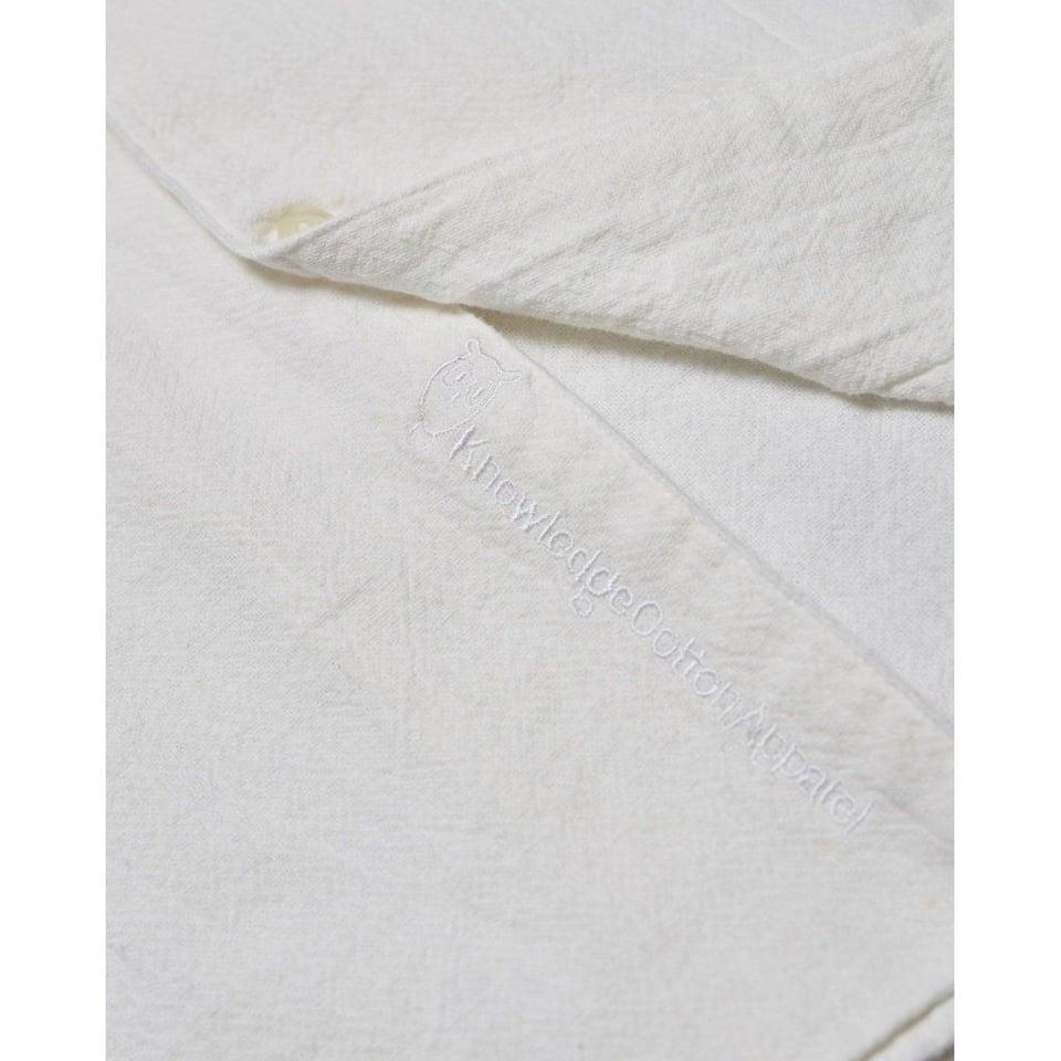 KnowledgeCotton Apparel Knowledge Cotton Apparel Wave Plain LS Shirt Bright White #2