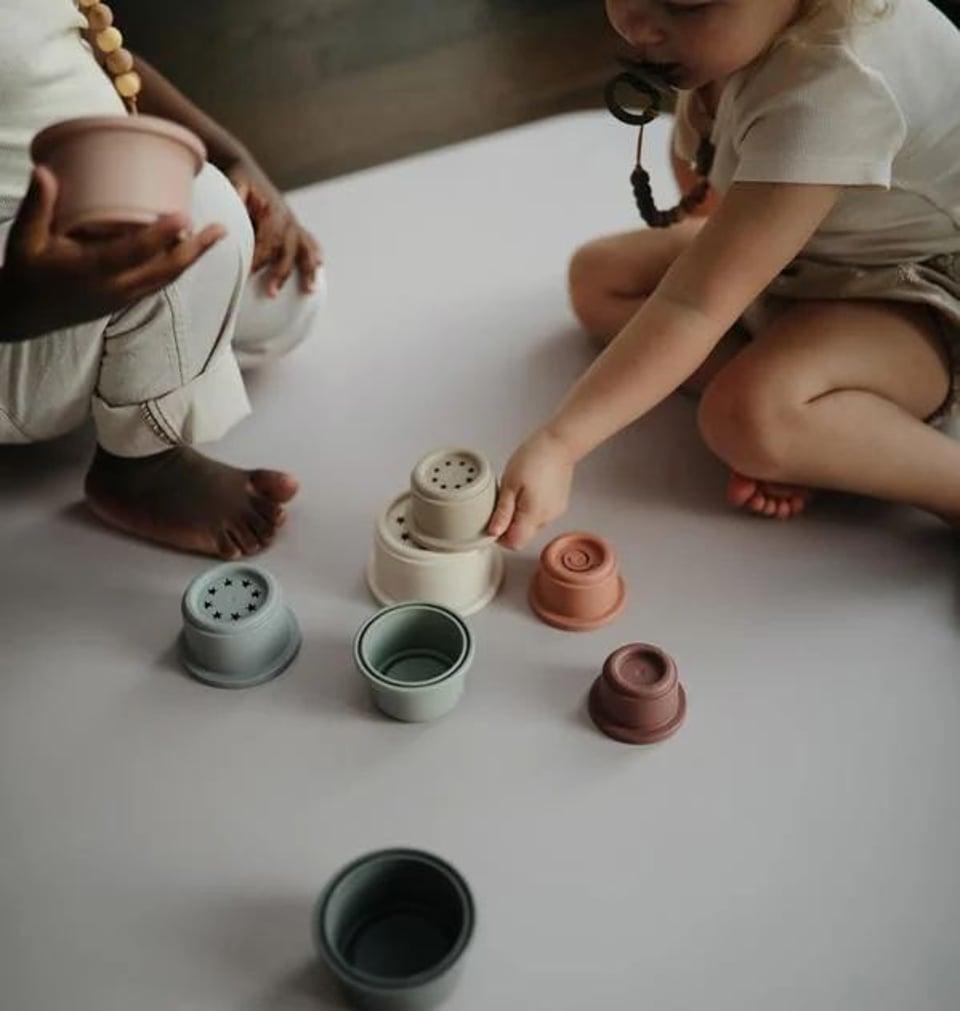 Mushie stacking Cups Toy Original / stapeltoren + 6 mnd  #1