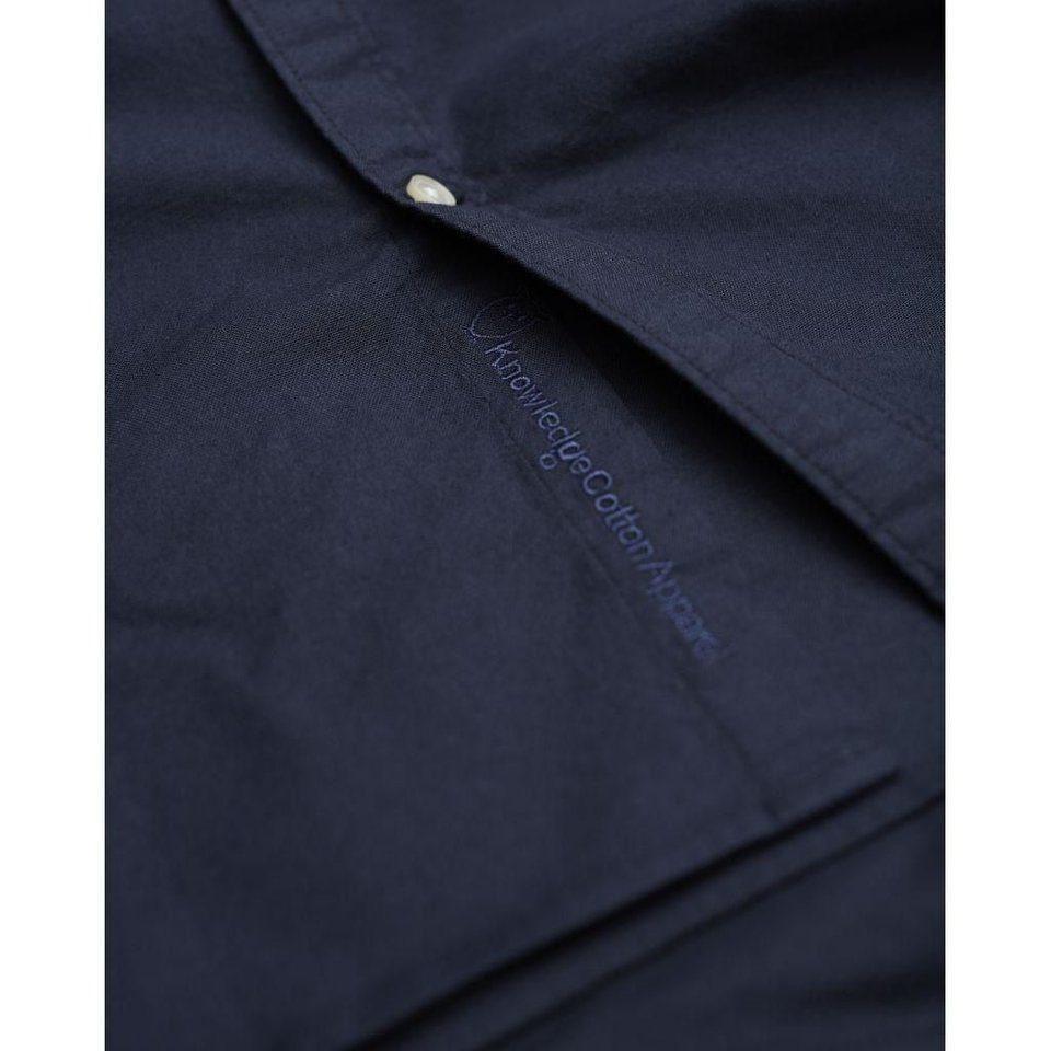 KnowledgeCotton Apparel Knowledge Cotton Apparel Stretched Oxford Shirt Total Eclipse #3