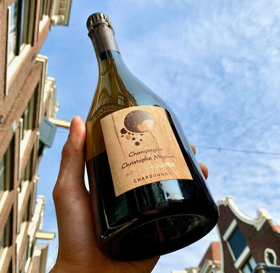 Christophe Mignon Champagne 'Coup de Foudre' Blanc de Blancs Brut Nature