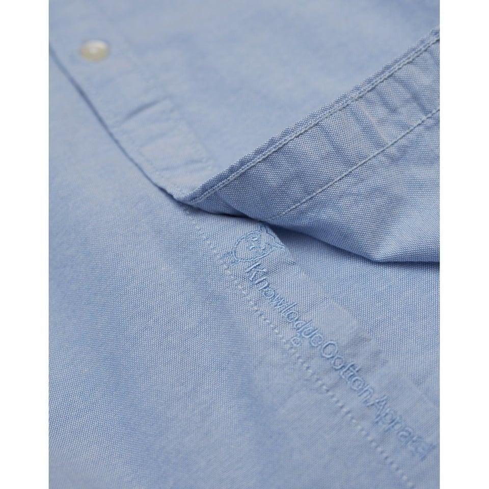 KnowledgeCotton Apparel Knowledge Cotton Apparel Stretched Oxford Shirt Lapis Blue #2