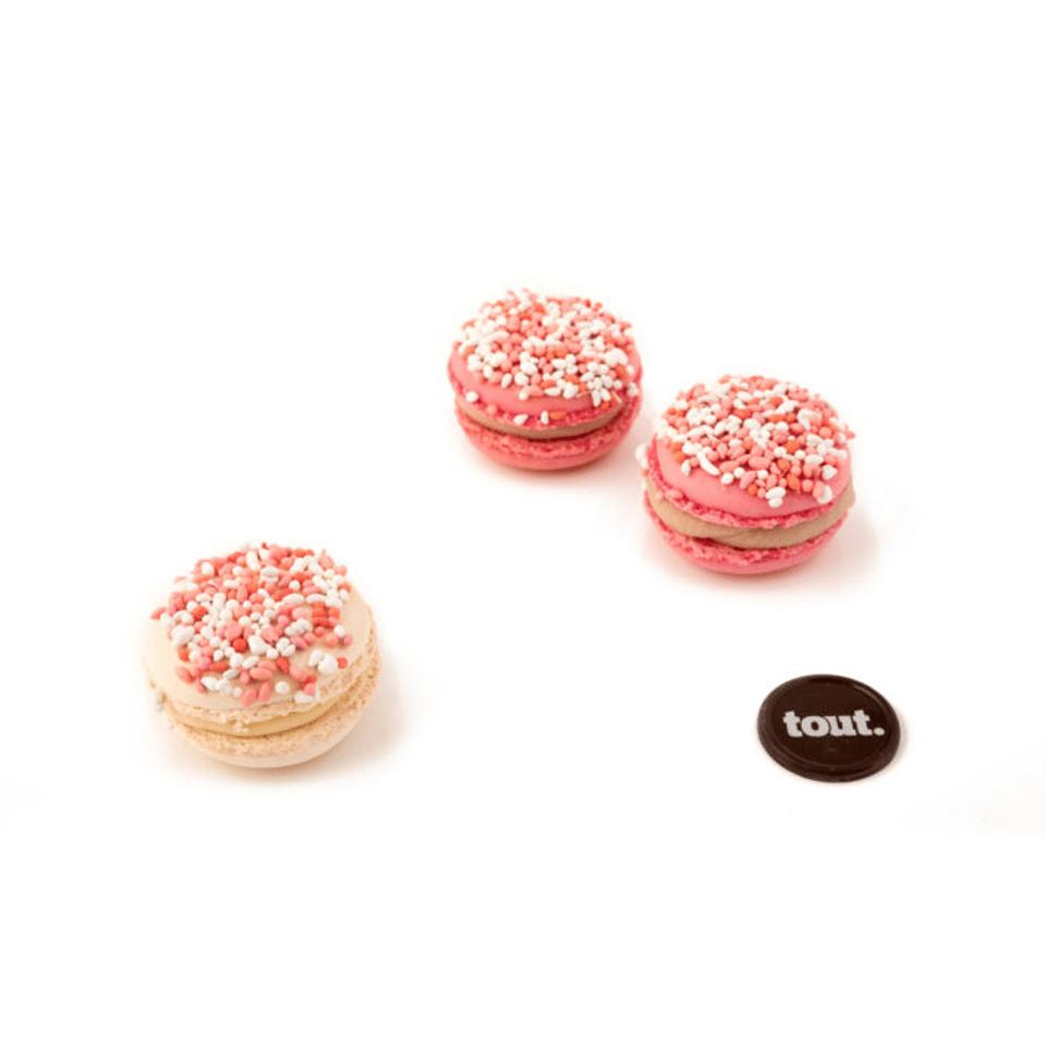 geboorte macarons roze