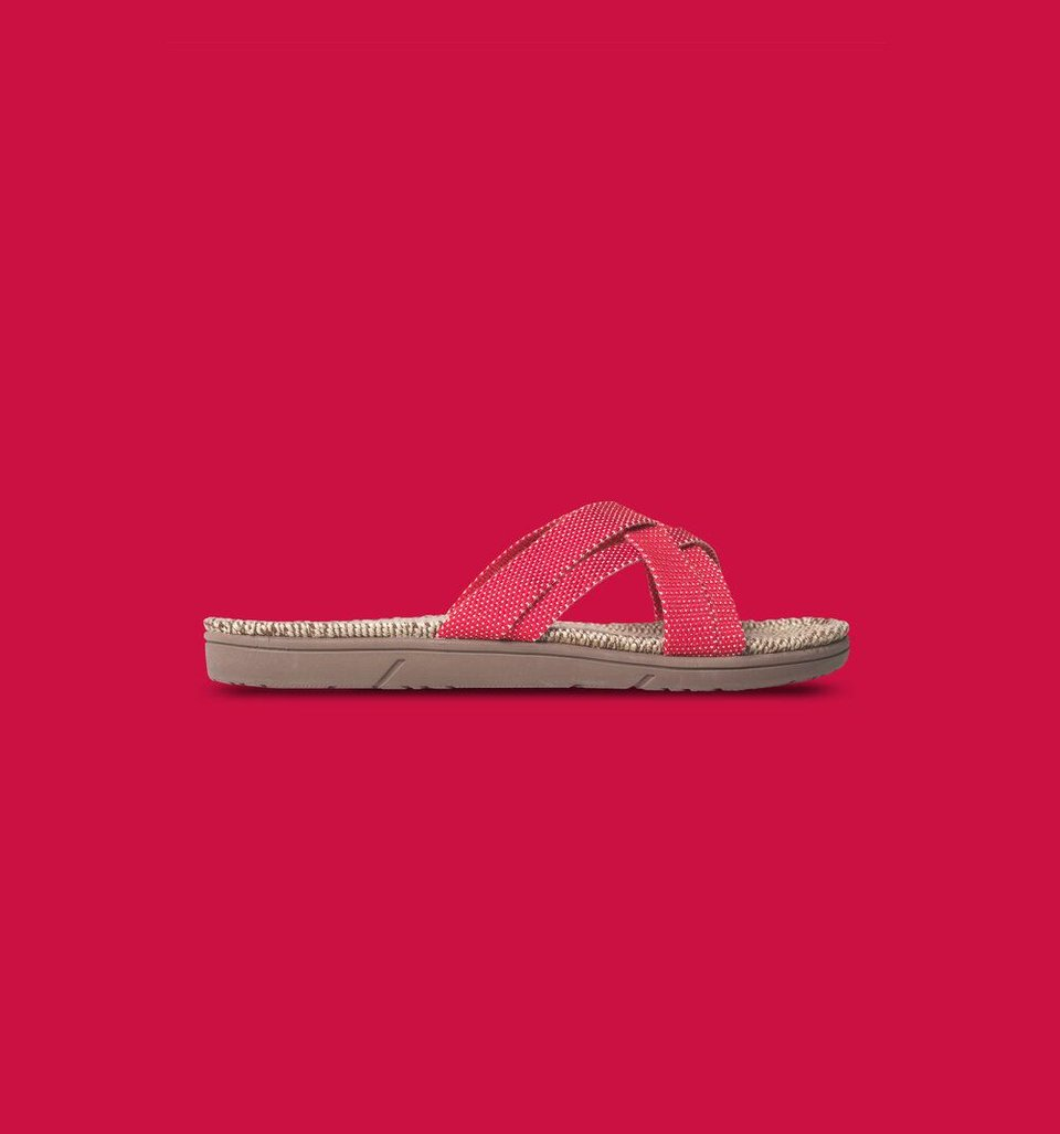 Shangies slippers dames rood #1
