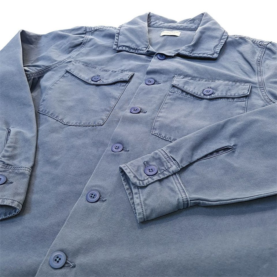 Behind The Pines Behind The Pines Tropical Shirt Faded Blue #2