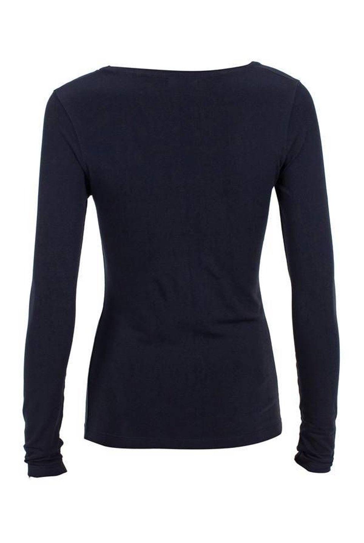 U-Neck Long Sleeve - Black #1