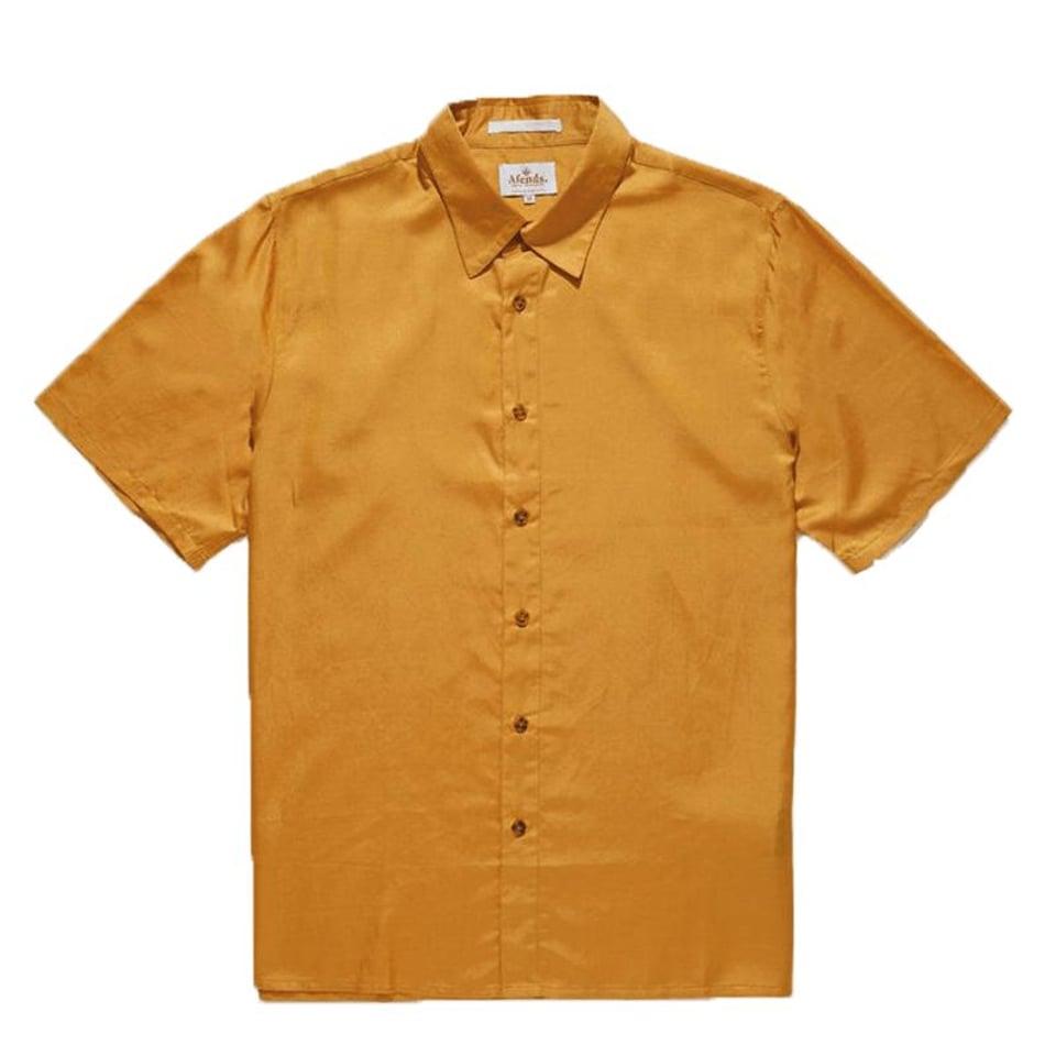 Afends Afends Holidayhemp Silk Shortsleeve Shirt Honey Yellow