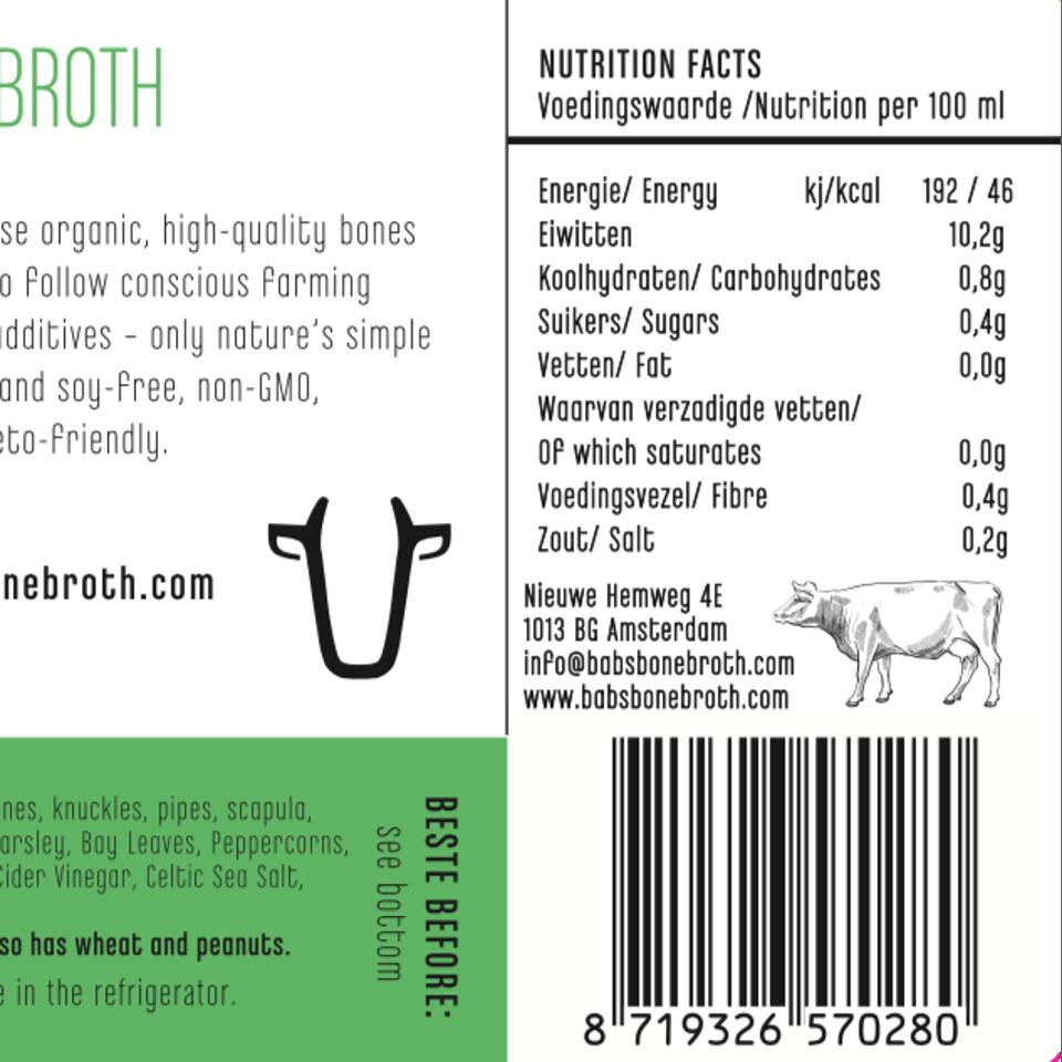 100 Percent Grass-fed Beef Bone Broth #1