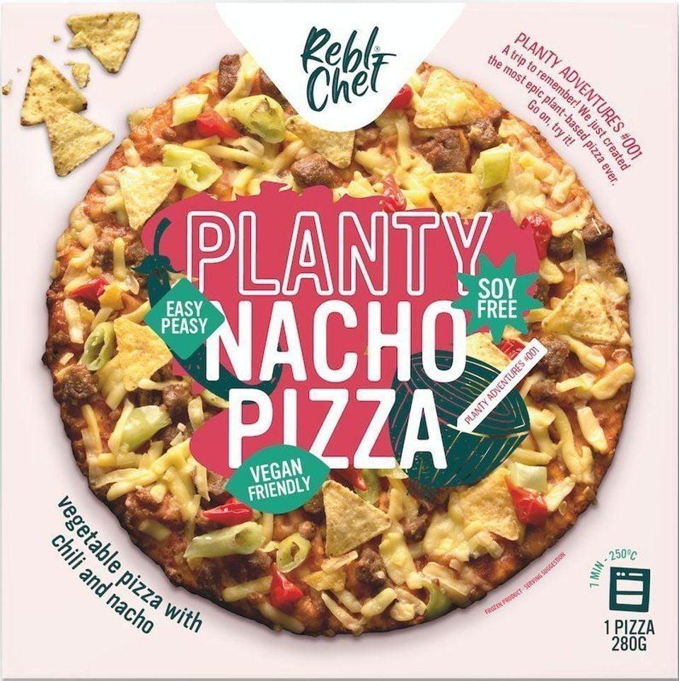 Planty nacho pizza