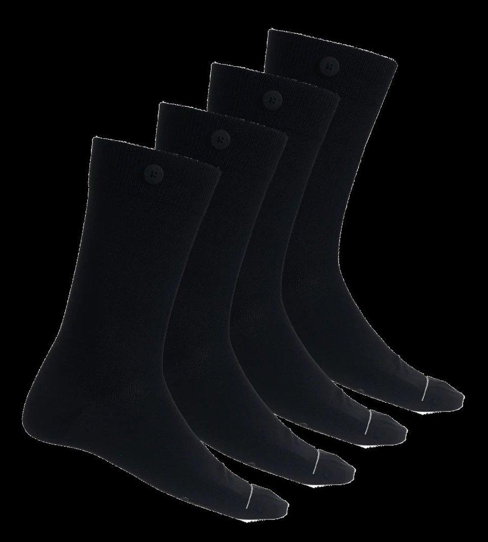 4 Pack Bundle - Solid Socks-Black
