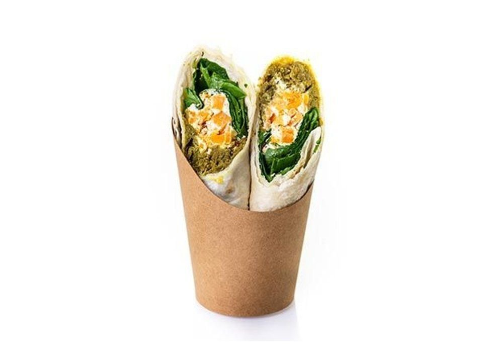 Indian Dahl and Coconut cream wrap