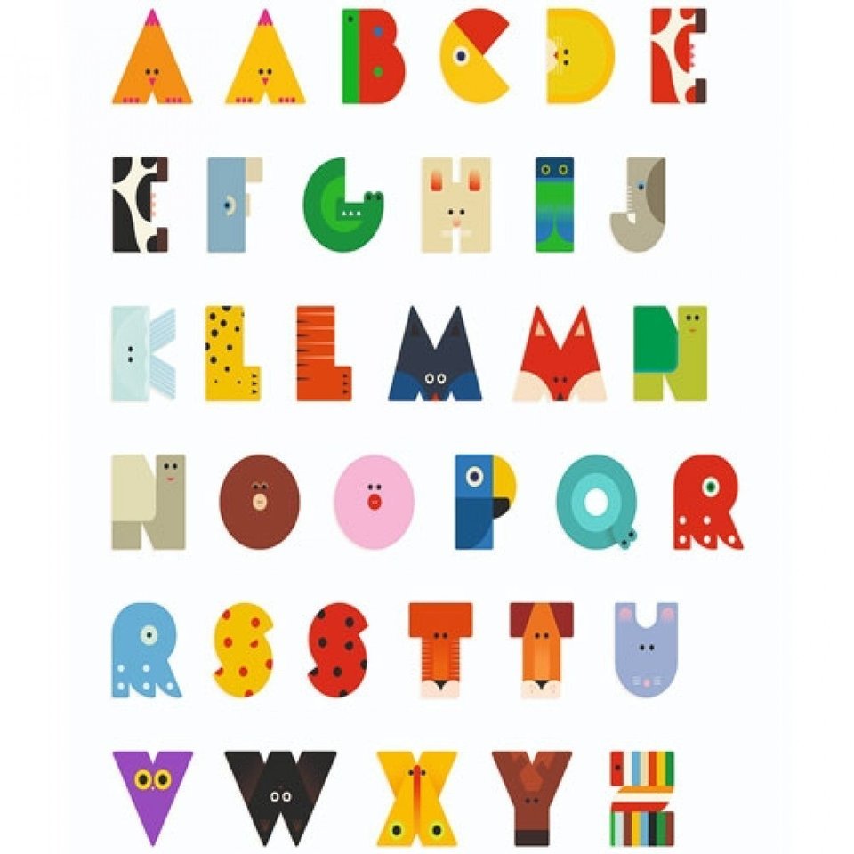 A - Letter Hout Dier Djeco