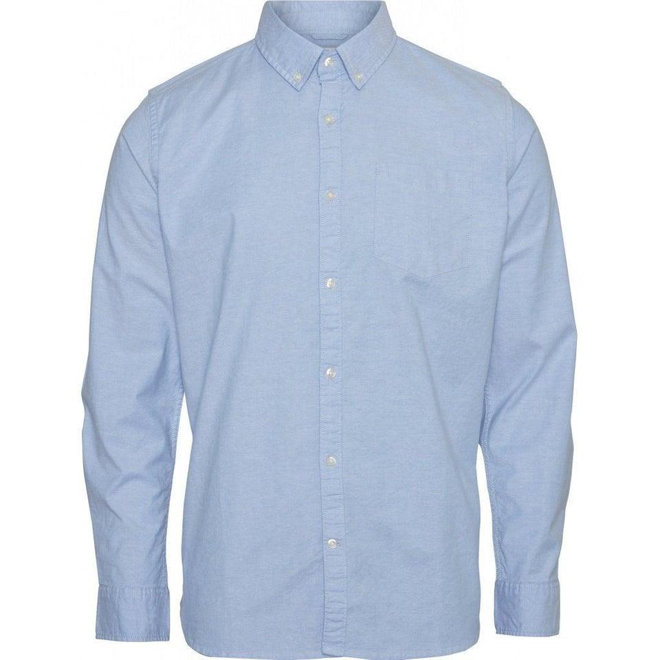 KnowledgeCotton Apparel Knowledge Cotton Apparel Stretched Oxford Shirt Lapis Blue