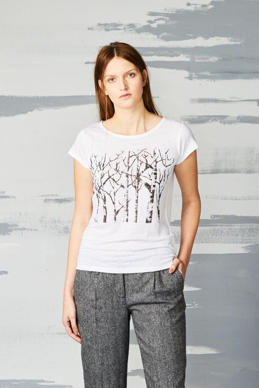 Päälä linnen t-shirt wit #1