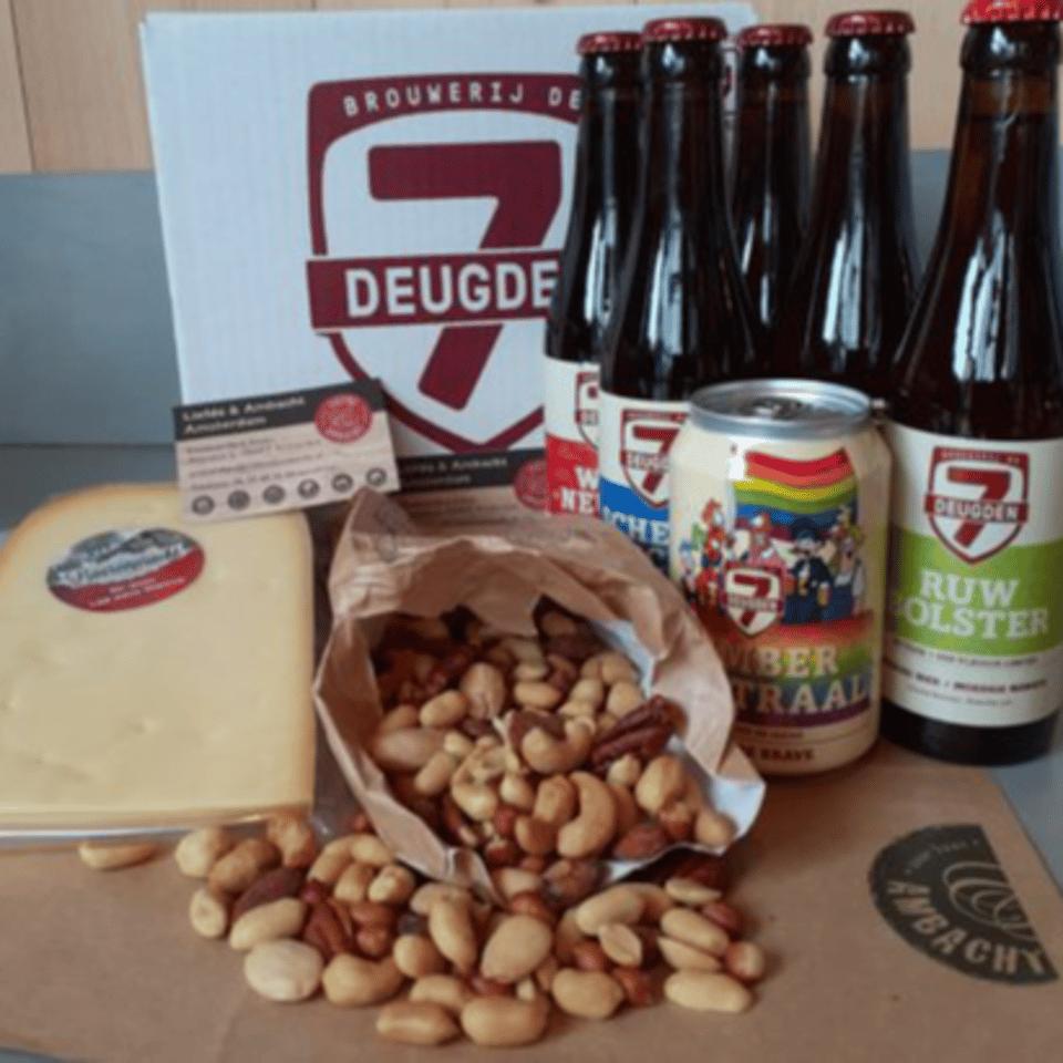 Kaas, noten en bier pakket 1