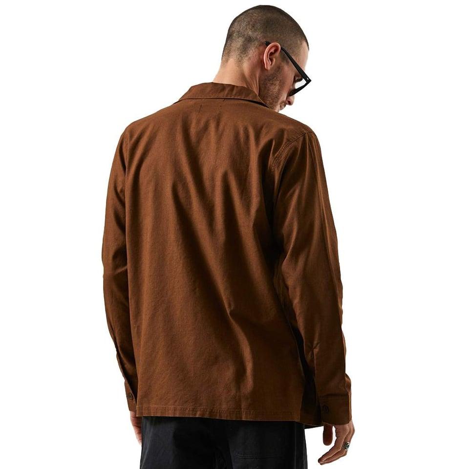 Afends Afends Maverick Hemp Work Shirt Impala #1