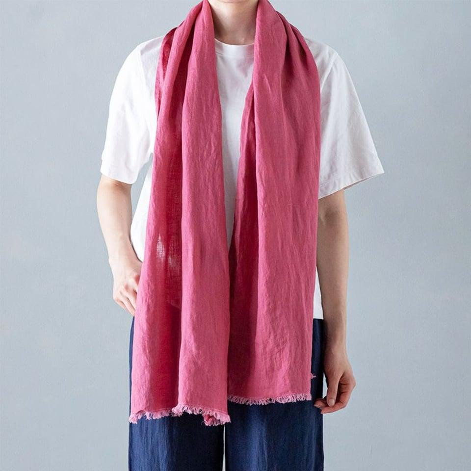 Lino e Lina linnen sjaal, cassis #1
