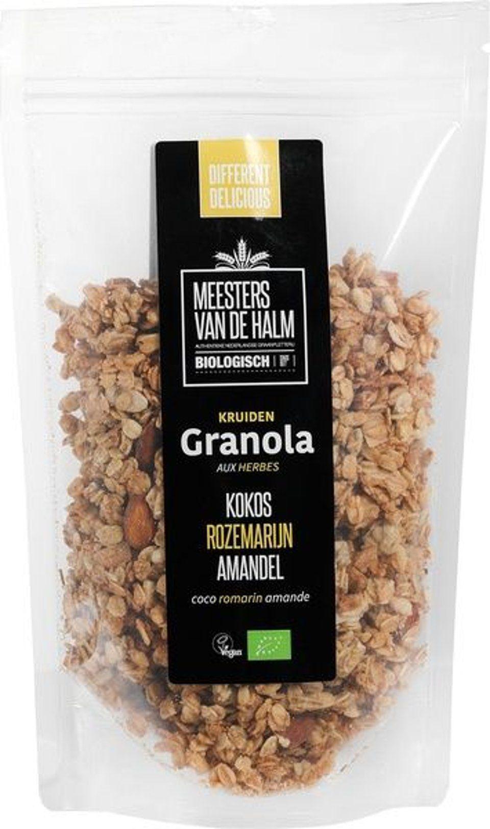 Granola kokos, rozemarijn & amandelen