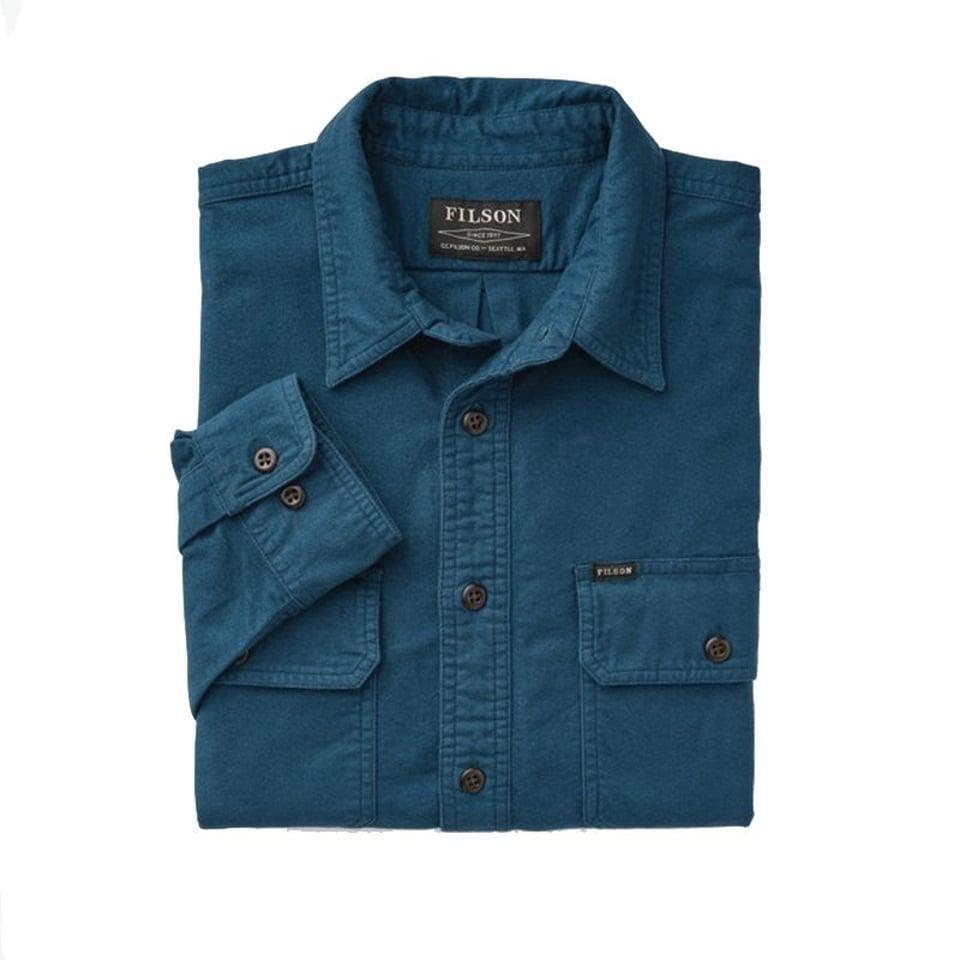 Filson Filson Field Flannel Shirt Legion Blue #2