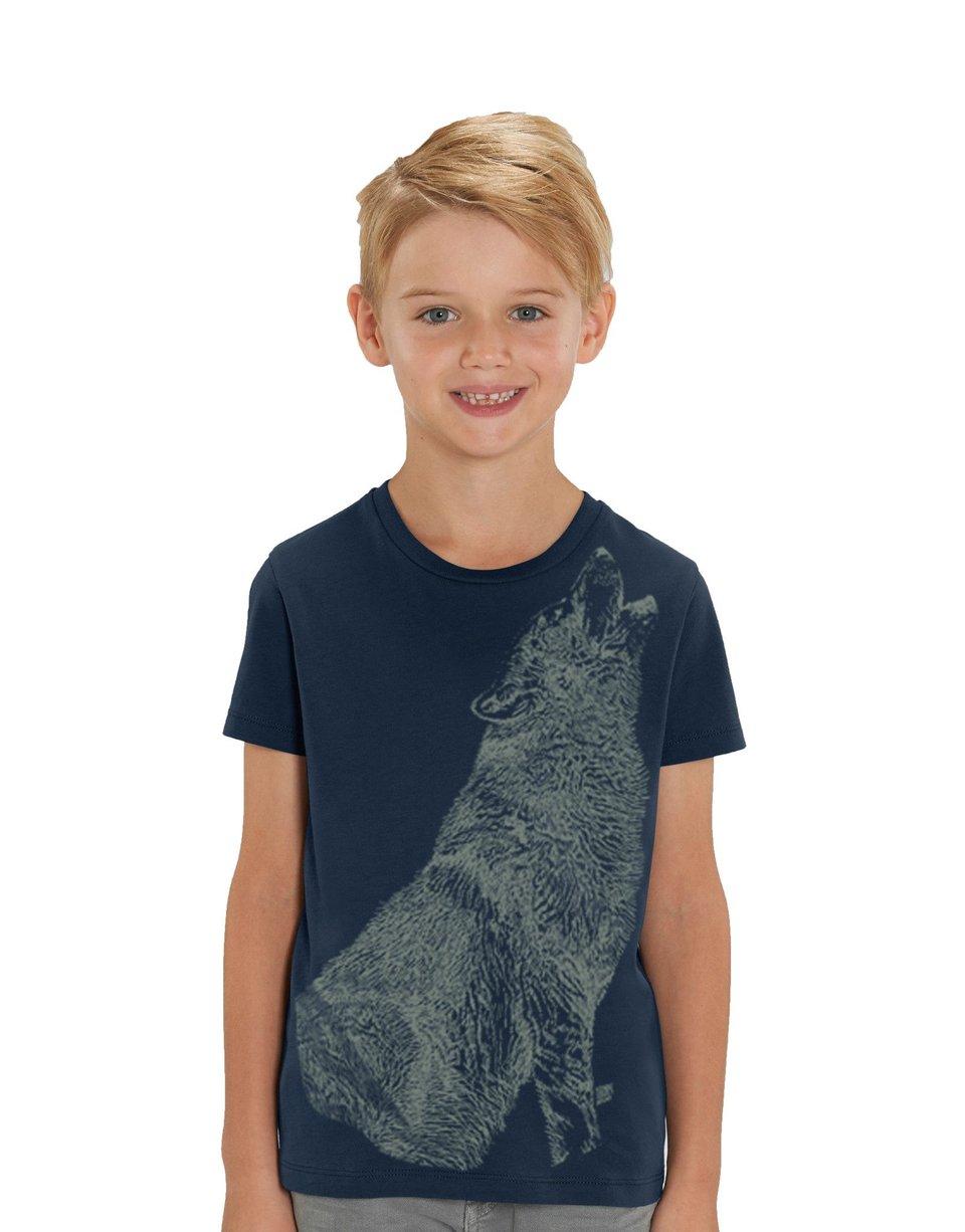 Huilende Wolf T-shirt - Glow In the Dark #1
