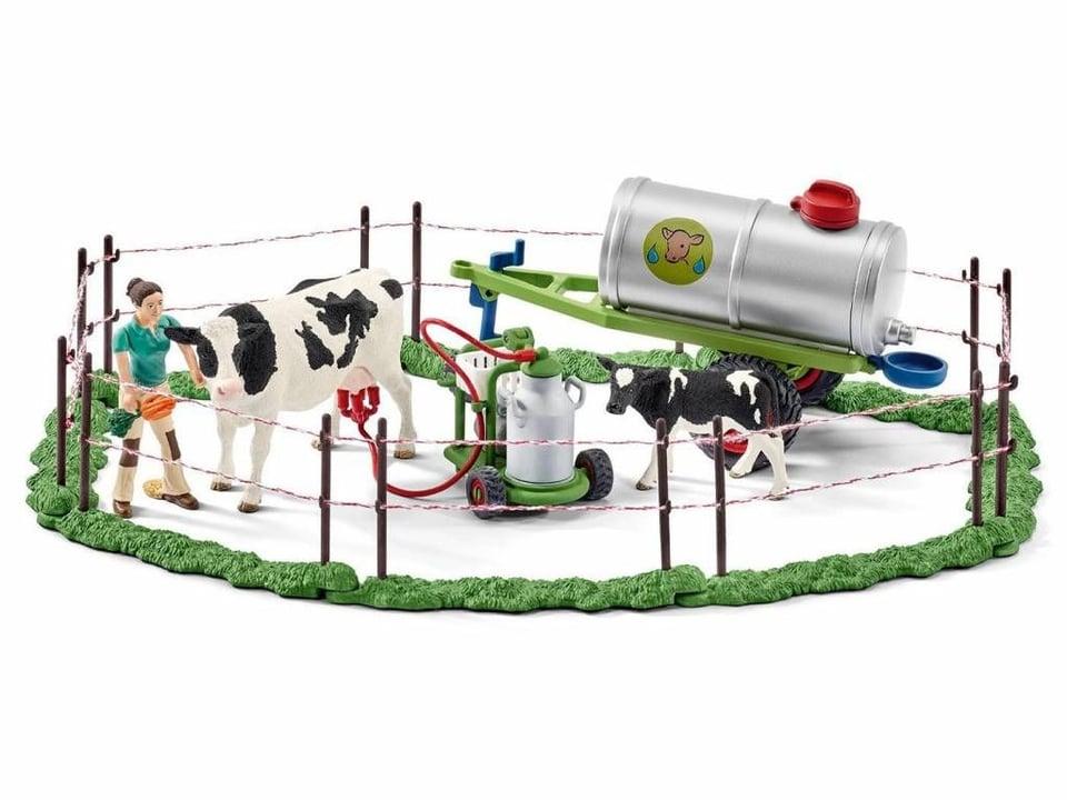 Schleich Koeienfamilie op de weide #1
