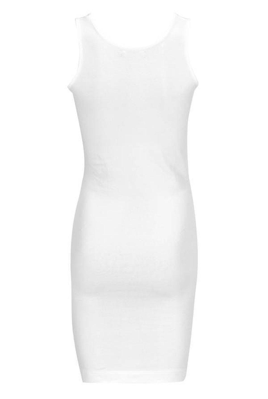Singlet U-Neck Long - White #1
