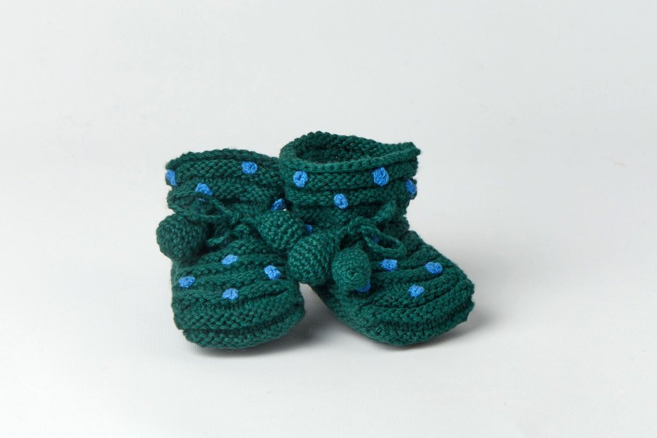 Little Dotted Booties #1