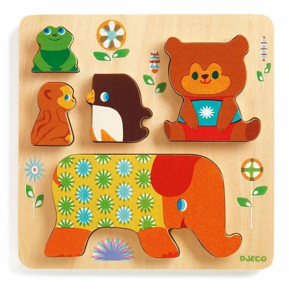 Djeco houten puzzel Woodypile 1 +