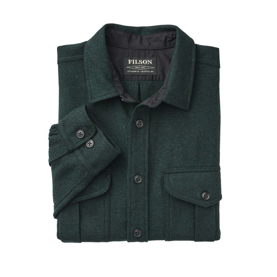 Filson Filson Northwest Wool Shirt Black Green Twill #2