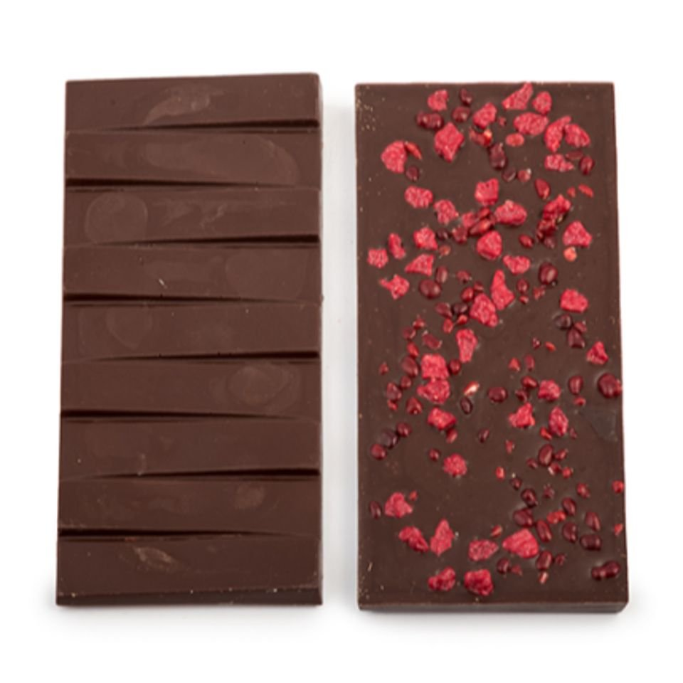 Origine Peru 65 Percentage Cacao Met Zwarte Olijven, Tomaat En Framboos