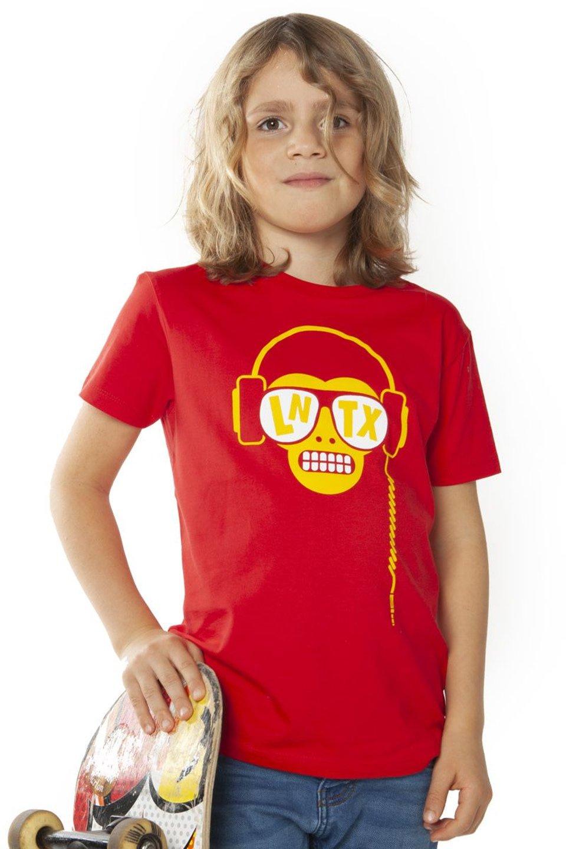 Monkey DJ T-shirt - Red