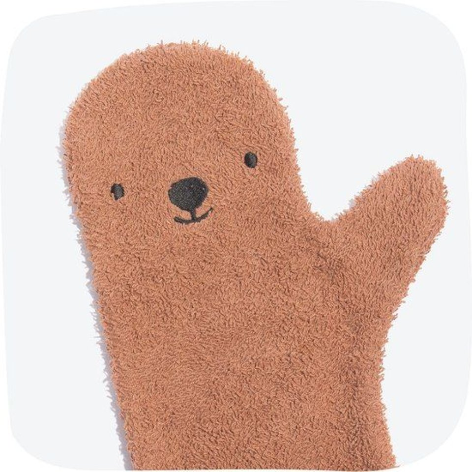 Babyshower glove brown bear #1