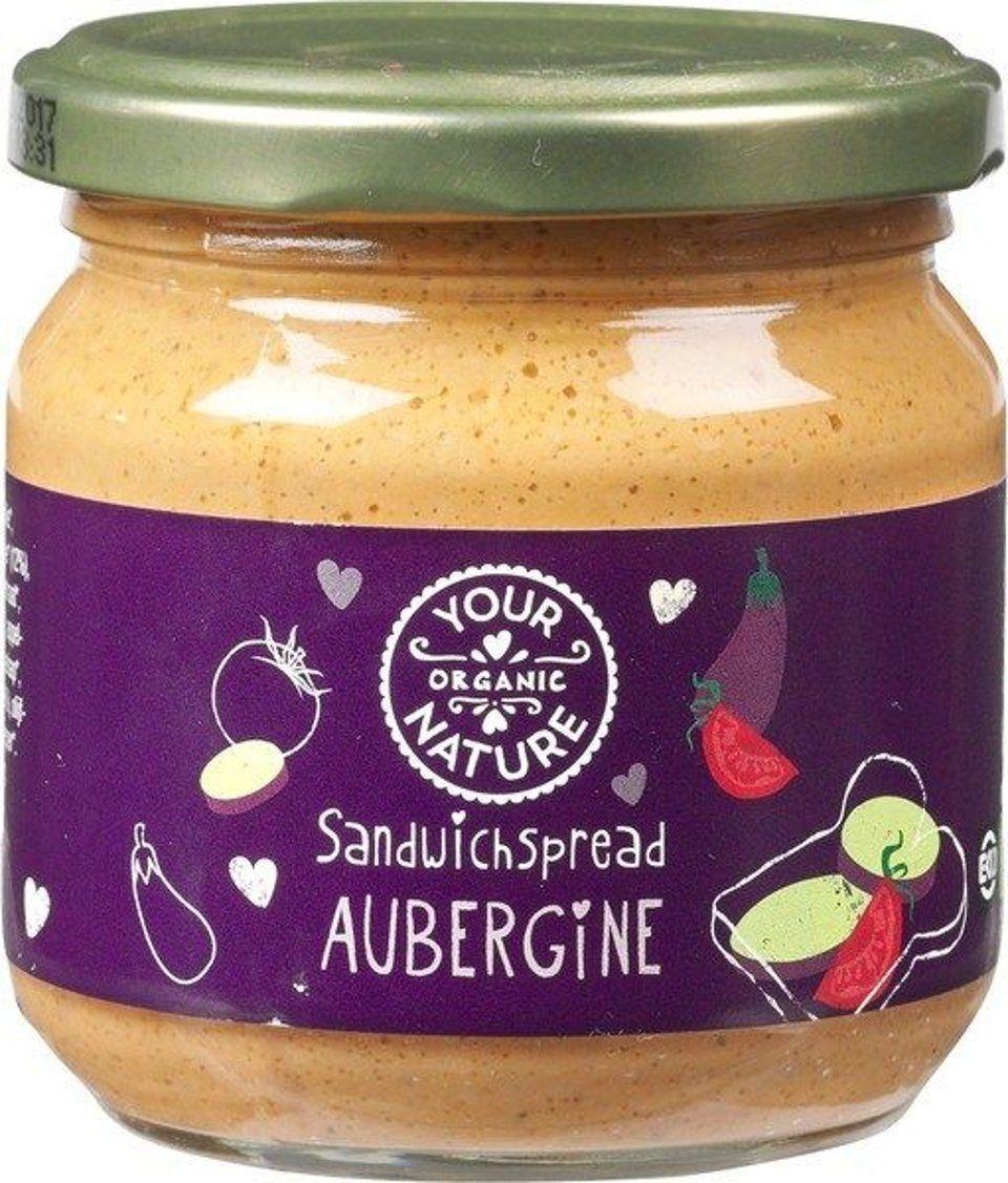 Sandwichspread aubergine