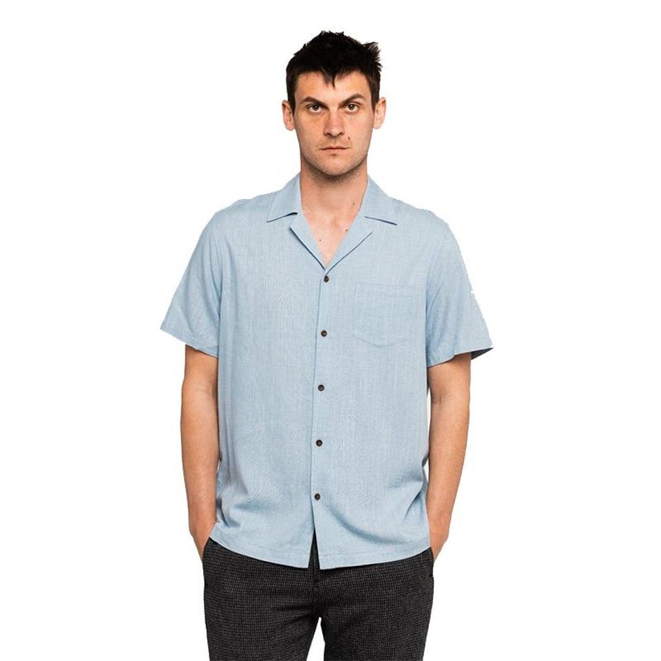 Banks Journal Banks Journal Brighton S/S Shirt Newport Blue #1