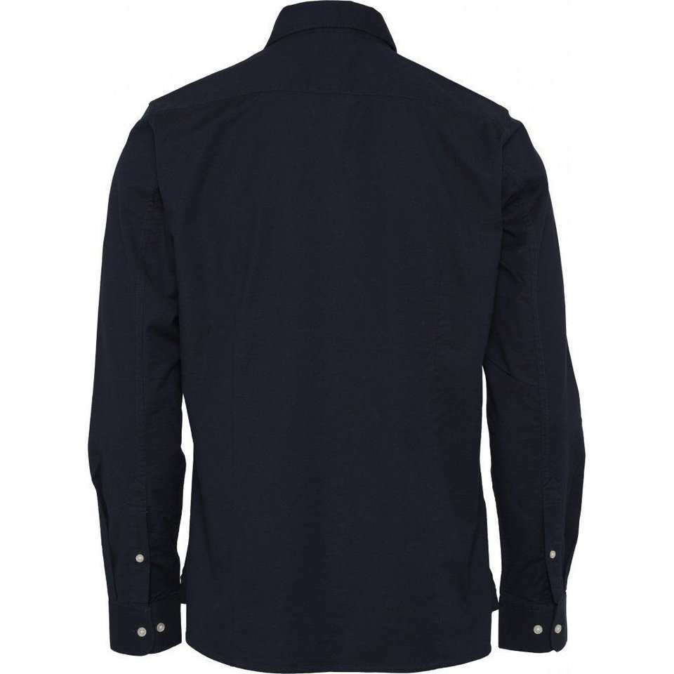 KnowledgeCotton Apparel Knowledge Cotton Apparel Stretched Oxford Shirt Total Eclipse #1