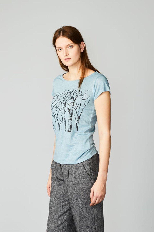 Päälä linnen t-shirt ijsblauw #1