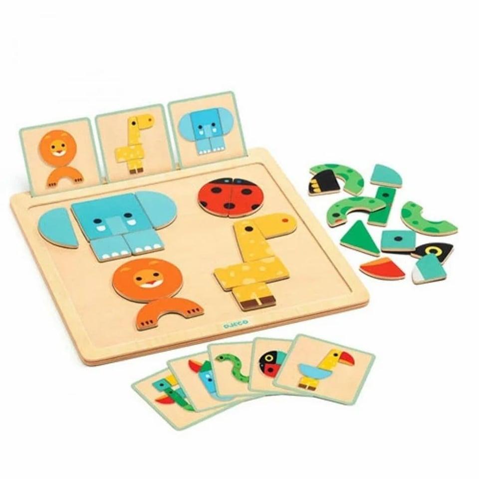 Djeco Geo Basic magnetisch puzzelspel 2+ #1