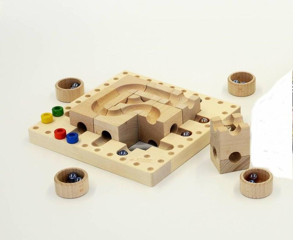 CuboroTricky Ways (knikkerbaan spel)