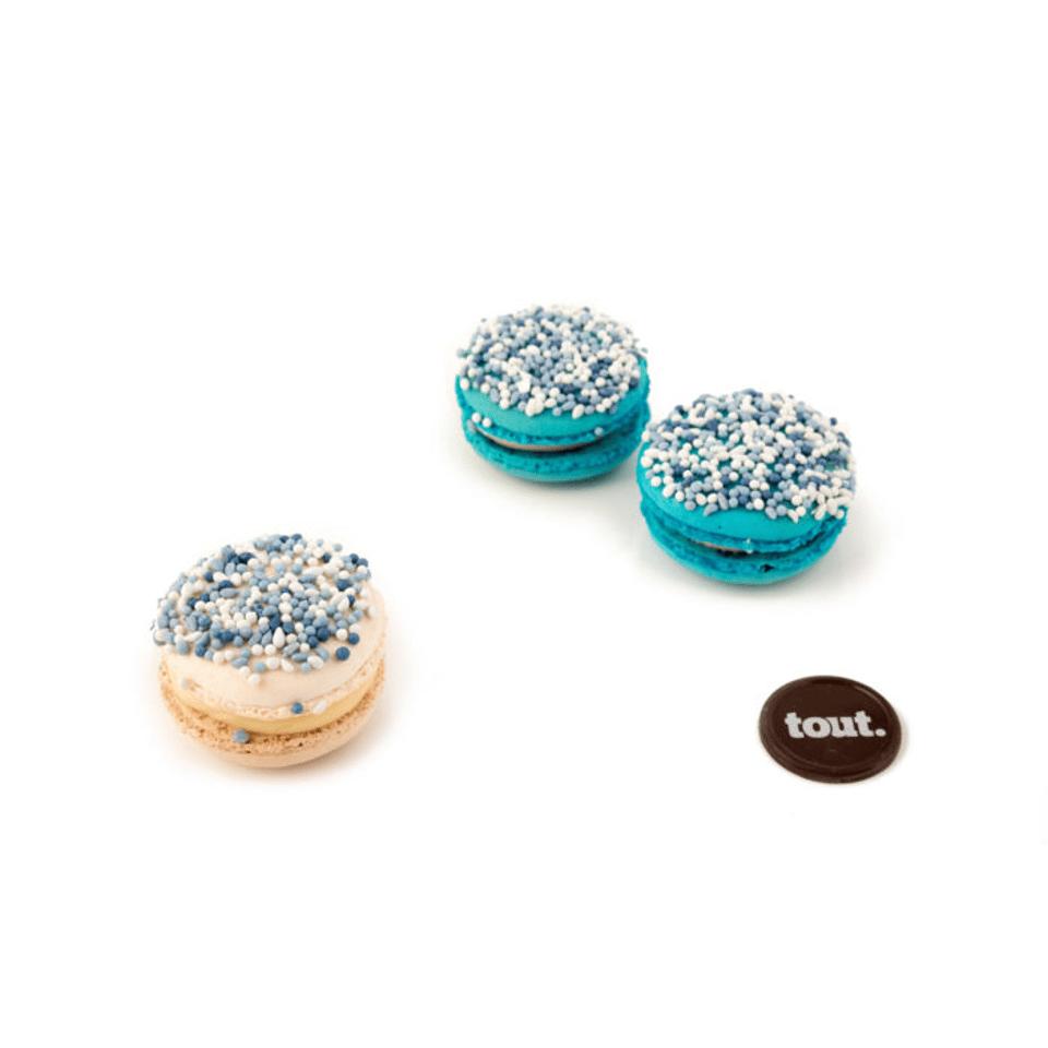 geboorte macarons blauw