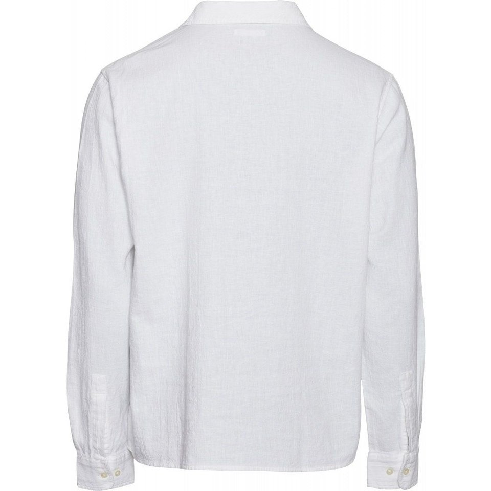 KnowledgeCotton Apparel Knowledge Cotton Apparel Wave Plain LS Shirt Bright White #3