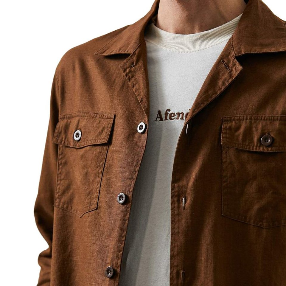 Afends Afends Maverick Hemp Work Shirt Impala #2